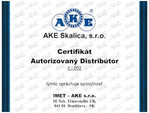 Autorizovaný distribútor ložísk AKE Skalica IMET-AKE