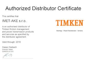 Autorizovaný distribútor ložísk TIMKEN IMET-AKE