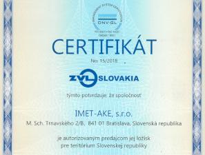Autorizovaný distribútor ložísk ZVL IMET-AKE