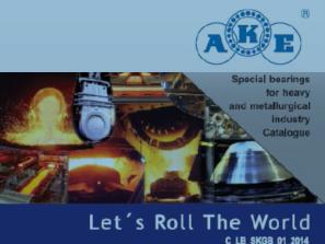 Špeciálne ložiská AKE pre metalurgický priemysel a ťažké strojárstvo